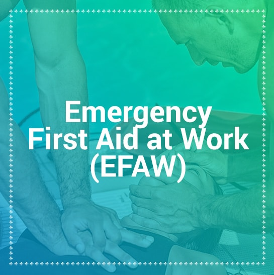Emergency first aid at work training courses